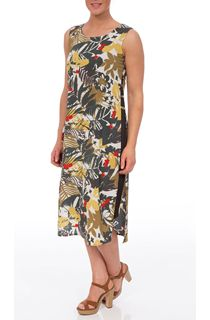 Sleeveless Layered Printed Midi Dress