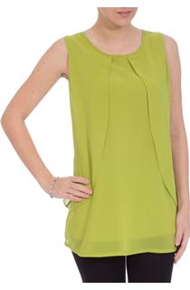 Sleeveless Layered Chiffon Top
