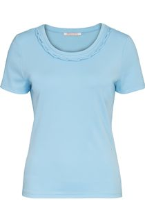 Anna Rose Short Sleeve Jersey Top - Pale Blue