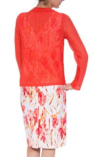 Anna Rose Long Sleeve Open Cover Up - Orange