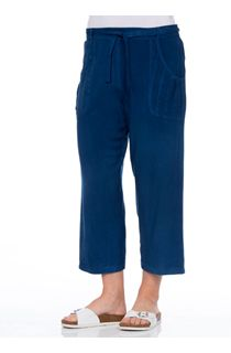 Anna Rose Cropped Wide leg Trousers - Cobalt