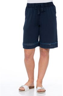 Washed Elasticated Waist Shorts