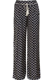 Printed Wide Leg Elasticated Waist Trousers