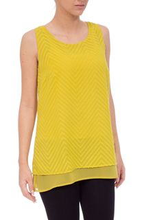 Sleeveless Textured Chiffon Top