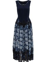 Printed Sleeveless Maxi Parachute Dress