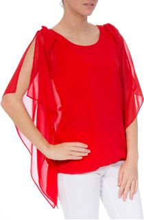 Layered Chiffon Split Sleeve Top