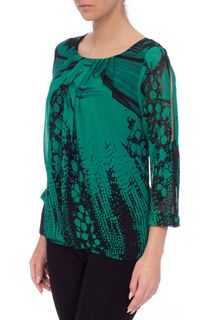 Three Quarter Split Sleeve Georgette Top