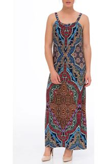 Sleeveless Printed Jersey Maxi Dress