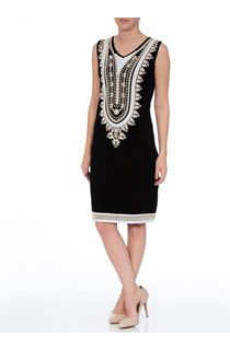 Sequin And Tape Work Sleeveless Jersey Midi Dress