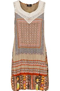 Sleeveless Scarf Printed Tunic