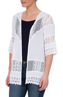 Lace Trim Open Cover Up